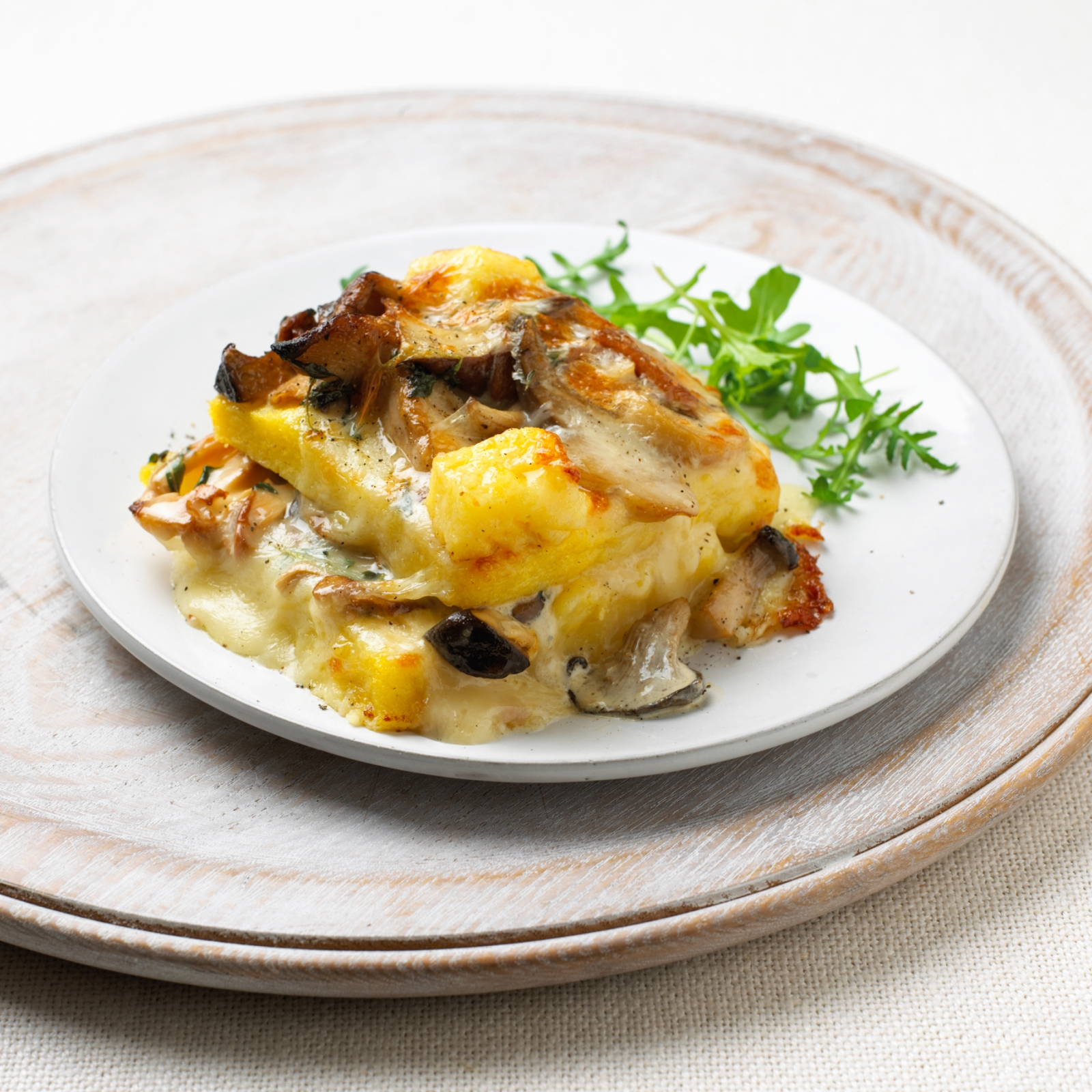 Baked Polenta with Wild Mushrooms and Fontina - Food & Drink - msn