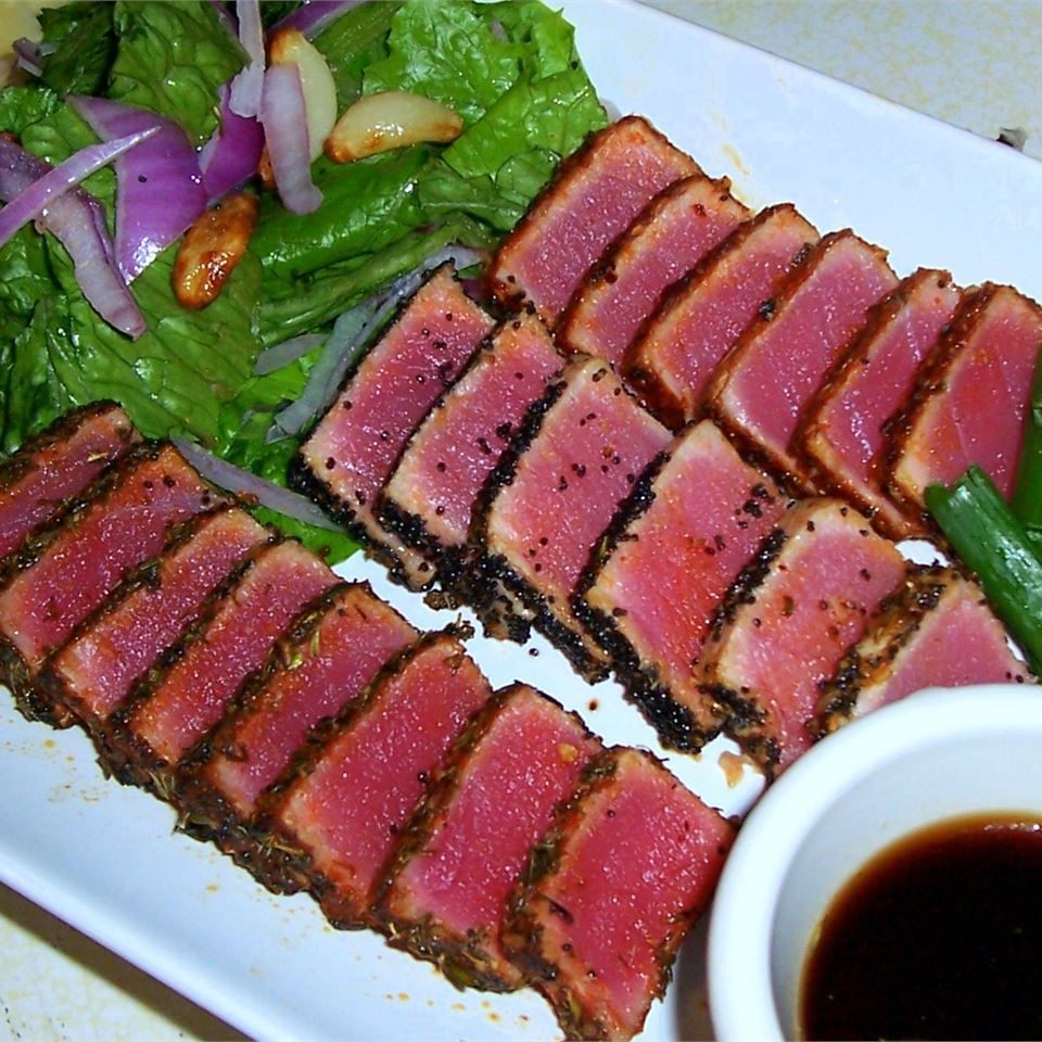 Seared Ahi Tuna Steaks with Dipping Sauce  What Great